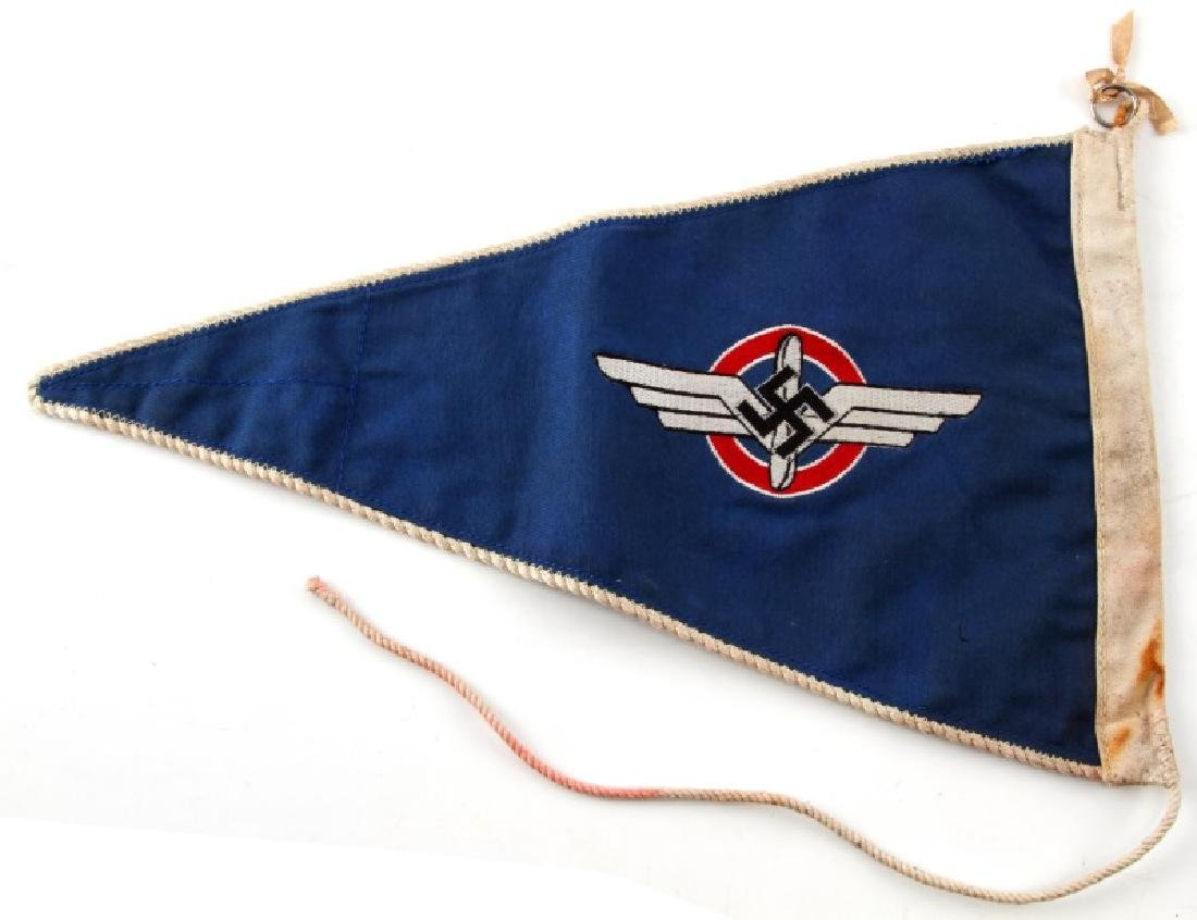 WWII GERMAN 3RD REICH DLV DOUBLE SIDED PENNANT - 3