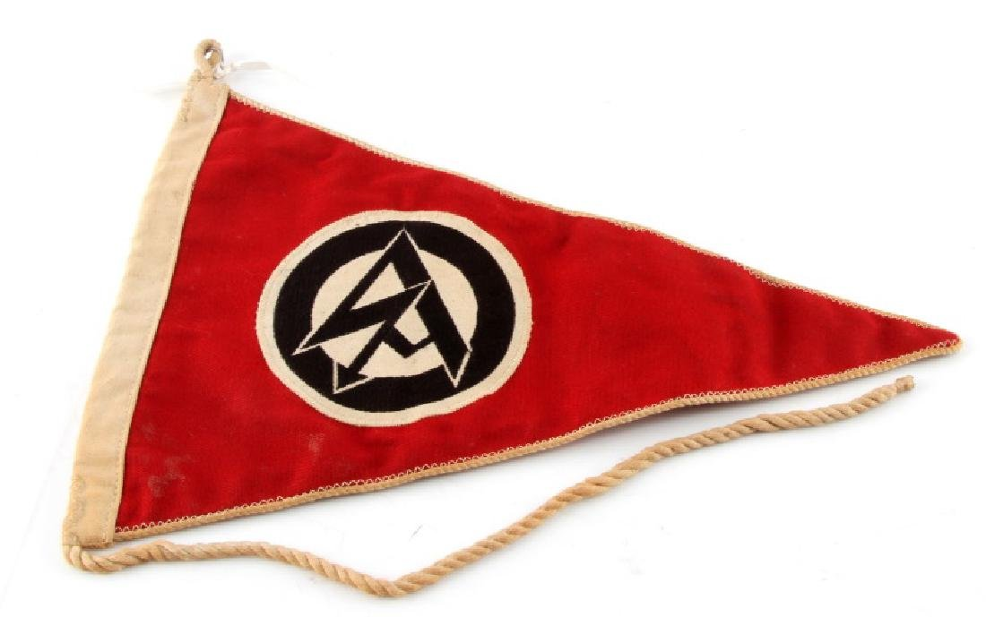 WWII GERMAN 3RD REICH SA DOUBLE SIDED PENNANT