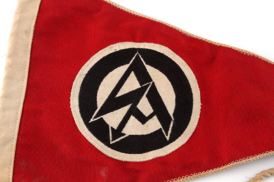 WWII GERMAN 3RD REICH SA DOUBLE SIDED PENNANT - 2