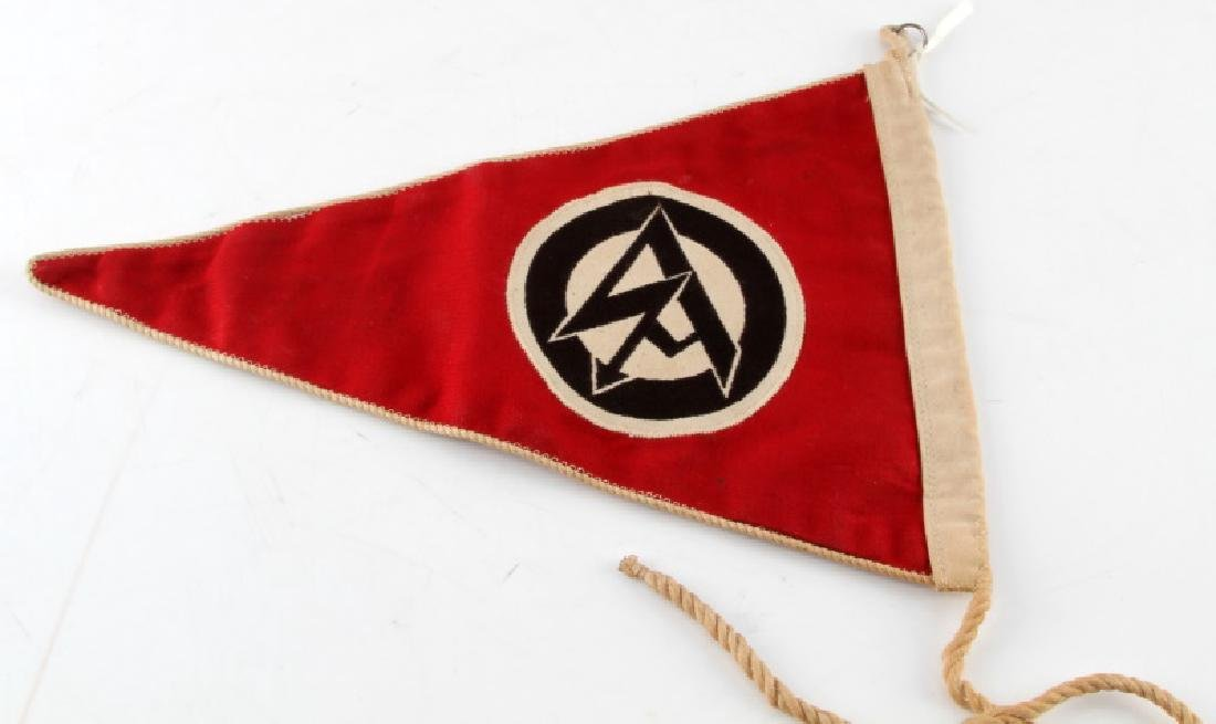 WWII GERMAN 3RD REICH SA DOUBLE SIDED PENNANT - 4