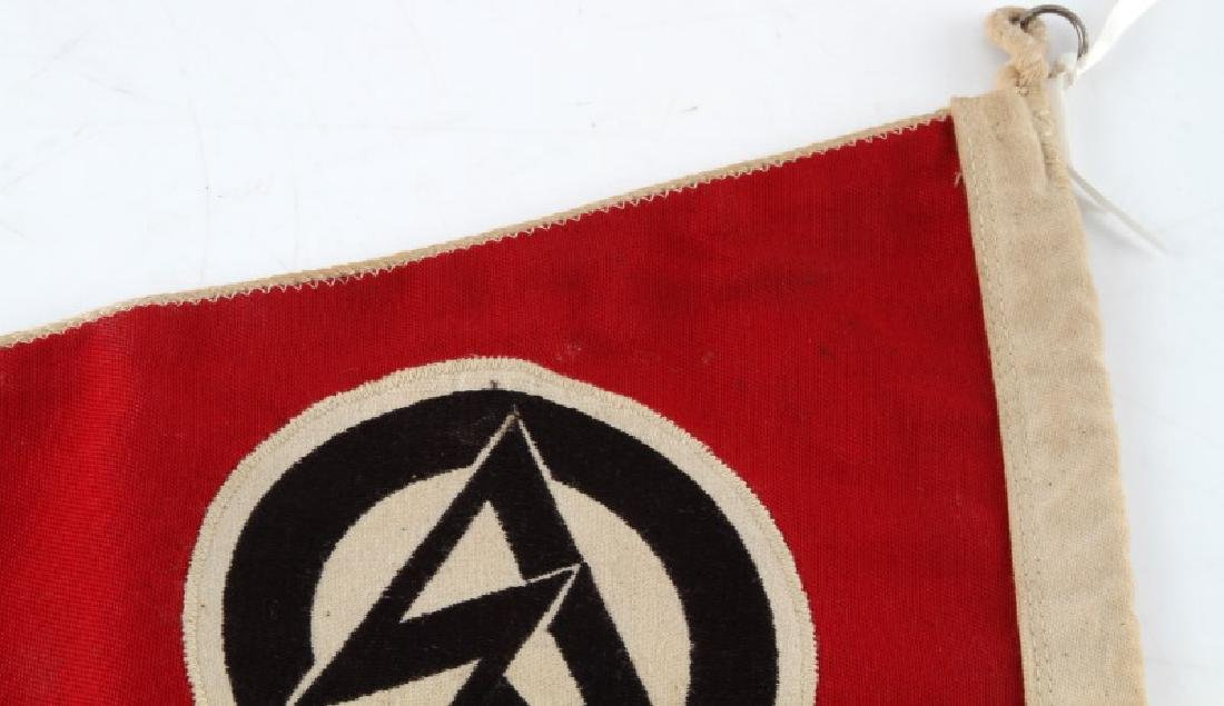 WWII GERMAN 3RD REICH SA DOUBLE SIDED PENNANT - 5