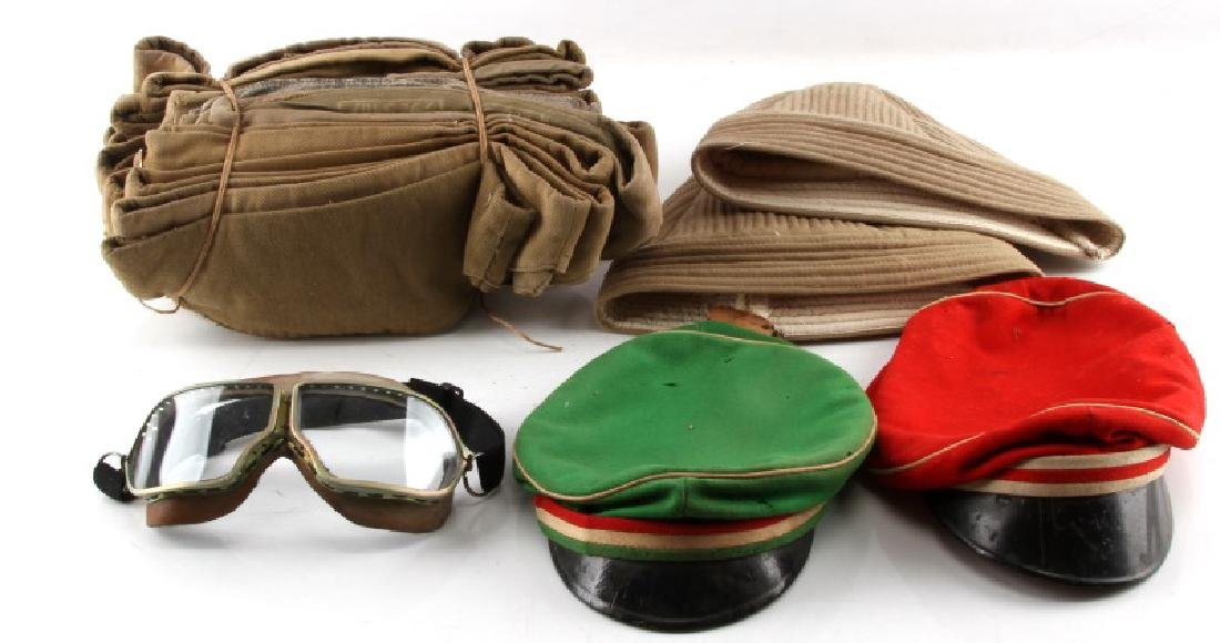 LOT OF RUSSIAN INDIAN MILITARY HEADGEAR