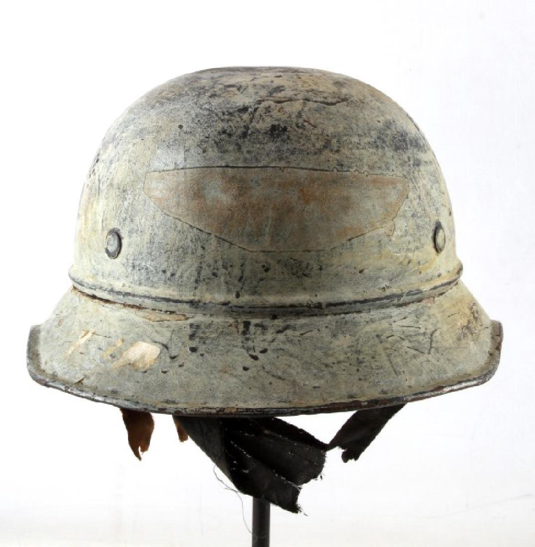 WWII GERMAN THIRD REICH PAINTED LUFTSCHUTZ HELMET