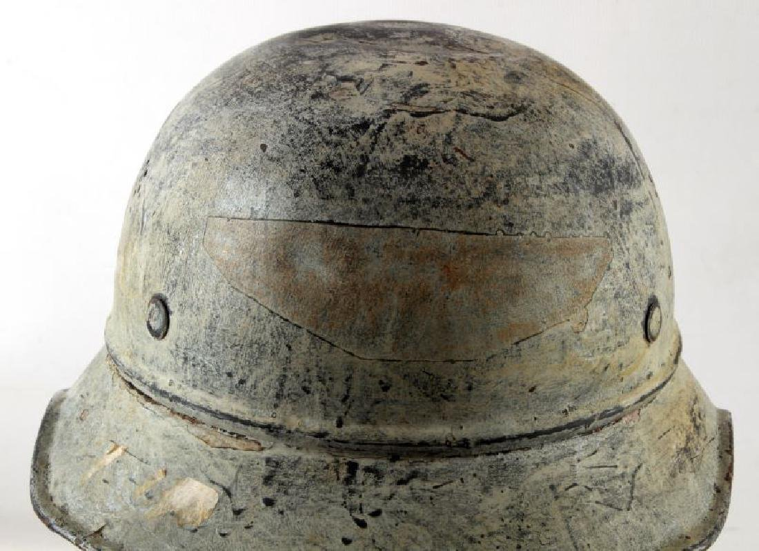 WWII GERMAN THIRD REICH PAINTED LUFTSCHUTZ HELMET - 2
