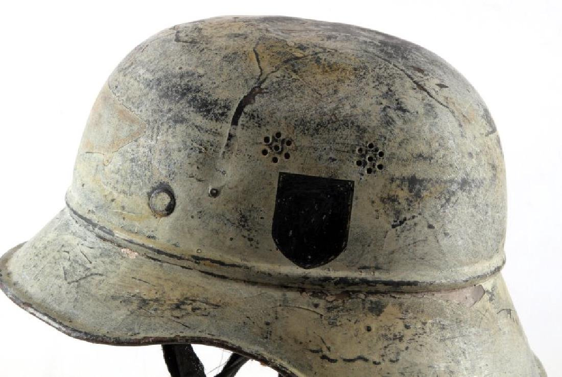 WWII GERMAN THIRD REICH PAINTED LUFTSCHUTZ HELMET - 5