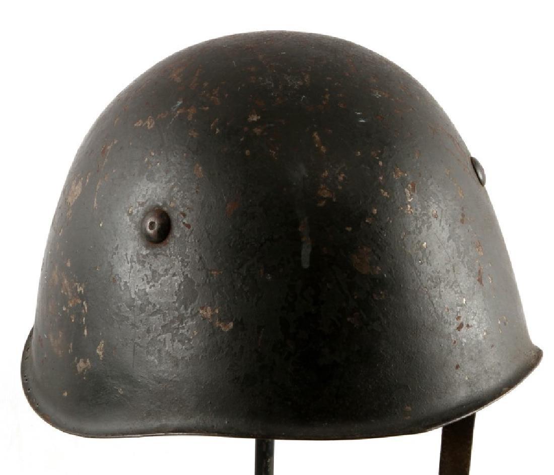 LOT OF 2 POLISH POST WWII WZ67 HELMETS - 3