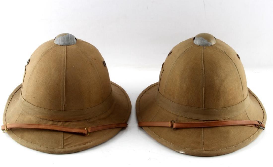 LOT OF 2 WWII ITALIAN FASCIST PITH HELMET