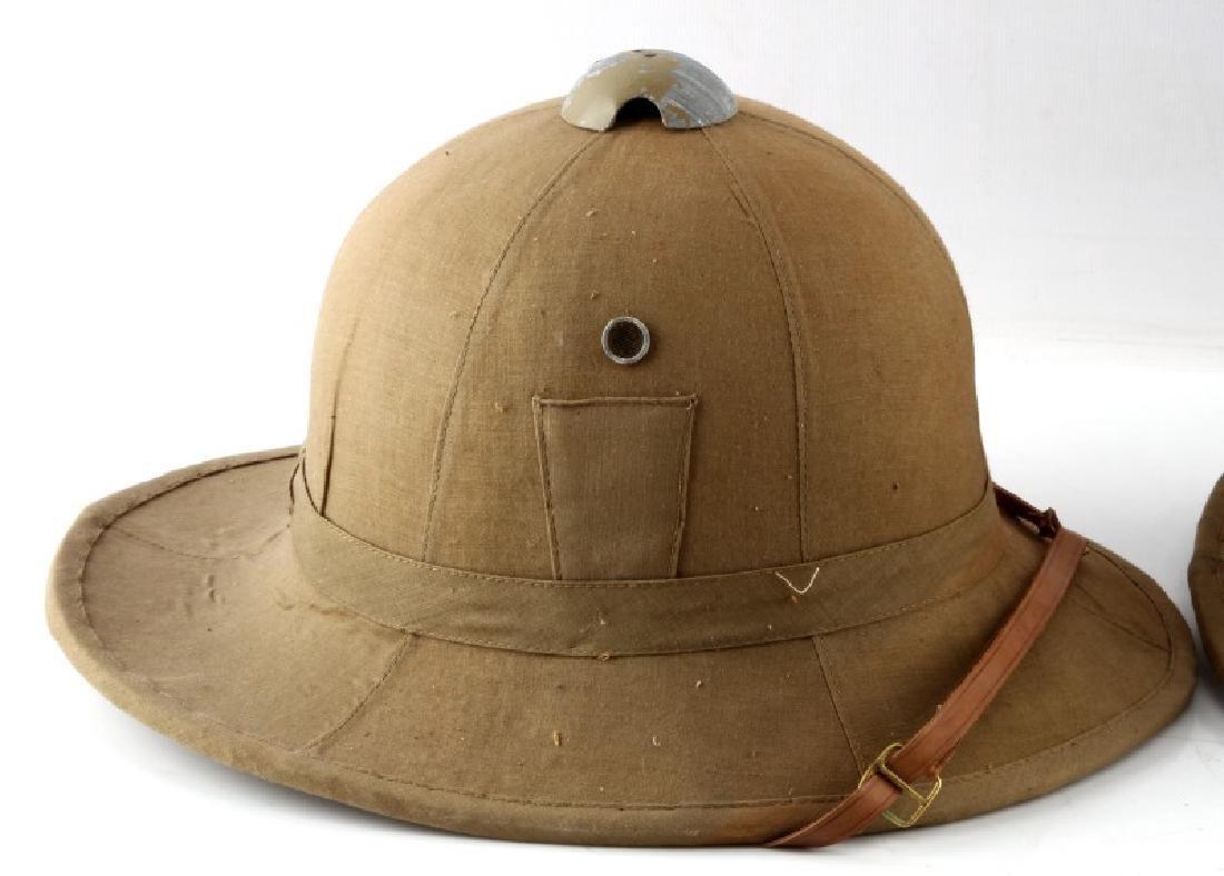 LOT OF 2 WWII ITALIAN FASCIST PITH HELMET - 2