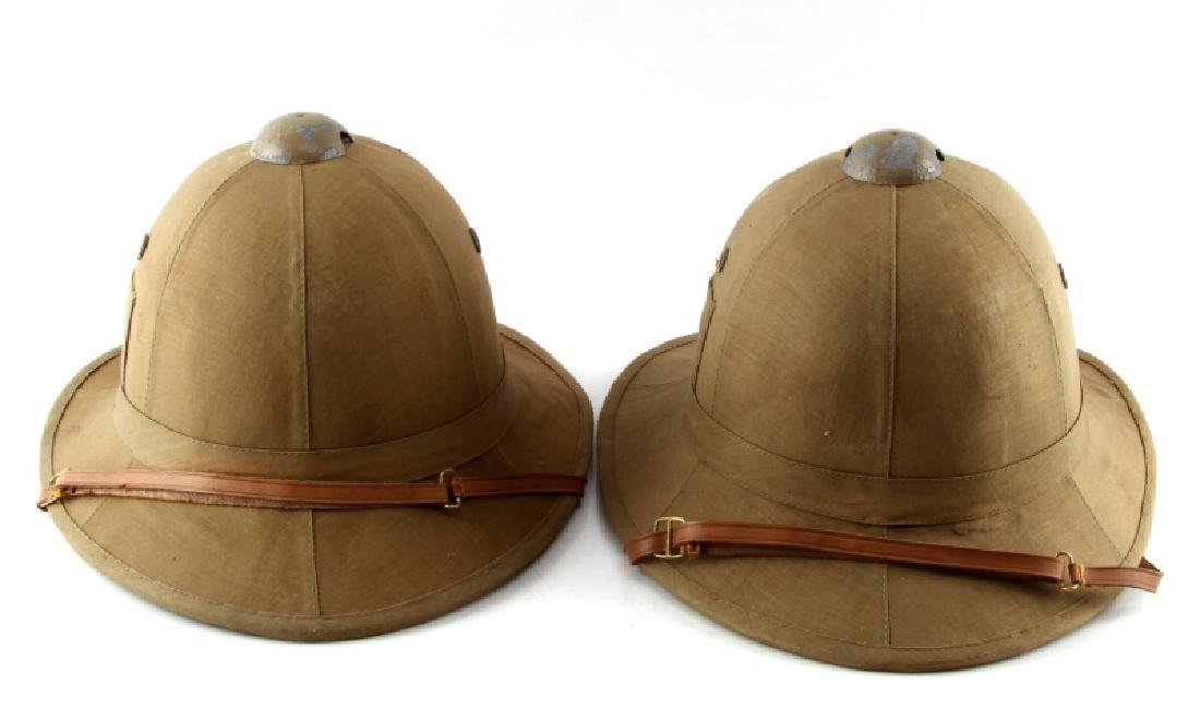 WWII LOT TWO ITALIAN FASCIST PITH HELMETS