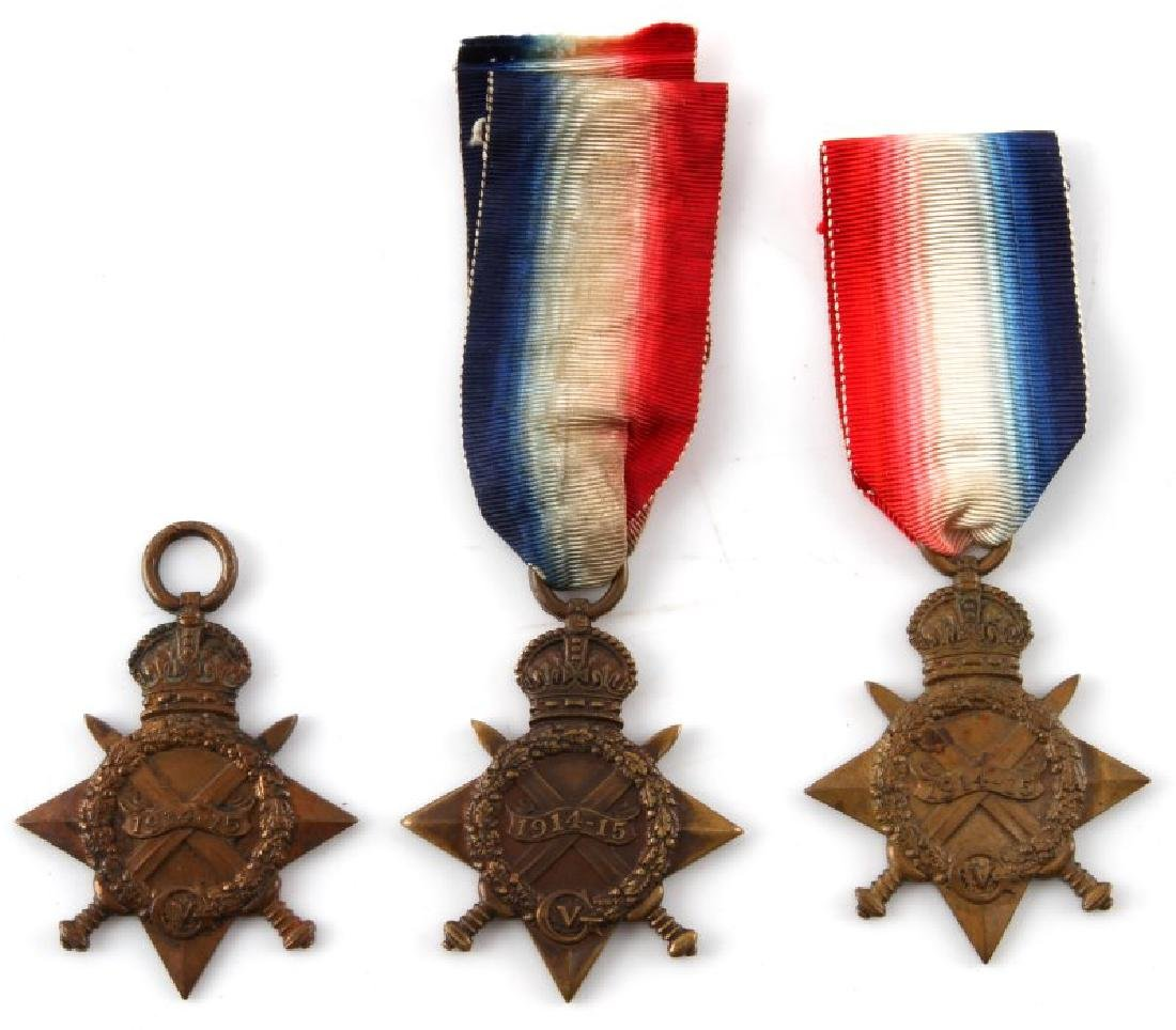 LOT OF 3 NAMED WWI SOUTH AFRICAN STAR MEDALS