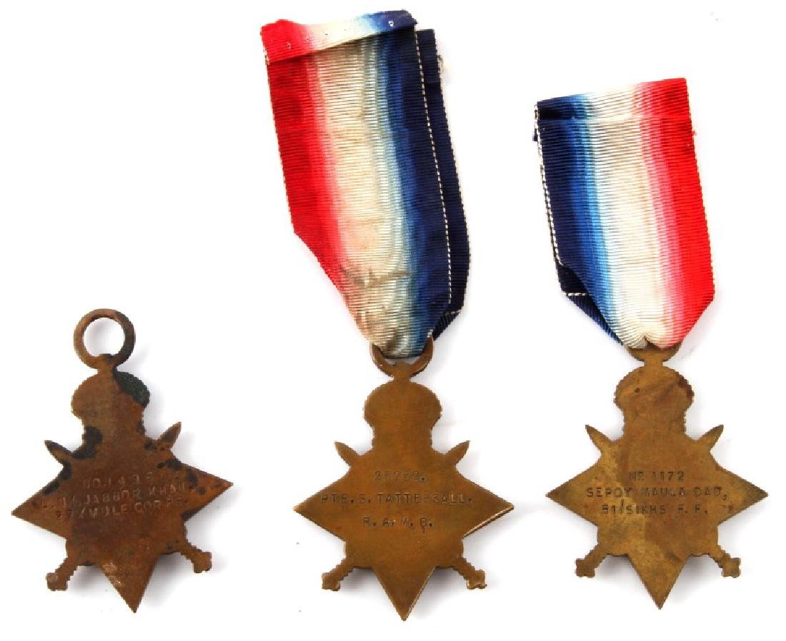 LOT OF 3 NAMED WWI SOUTH AFRICAN STAR MEDALS - 3