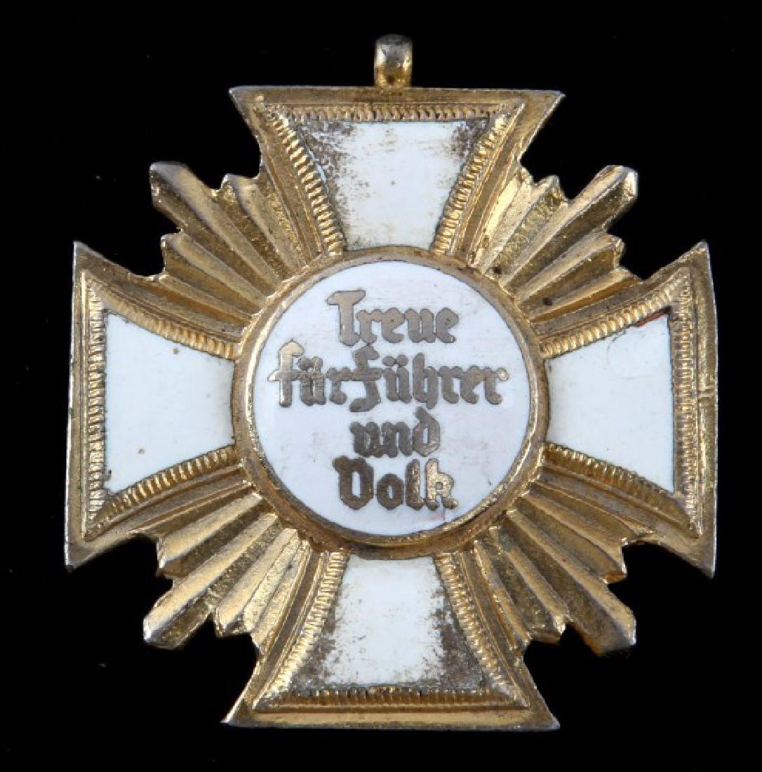 GERMAN WWII 25 YEAR LONG SERVICE AWARD WHITE GOLD