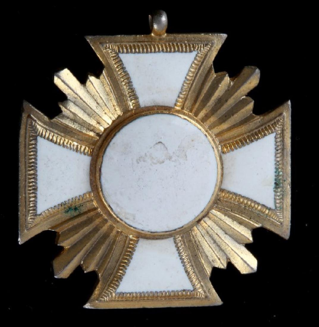 GERMAN WWII 25 YEAR LONG SERVICE AWARD WHITE GOLD - 2