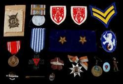MULTI CONFLICT & ASSORTED LOT MEDALS PINS AND ETC