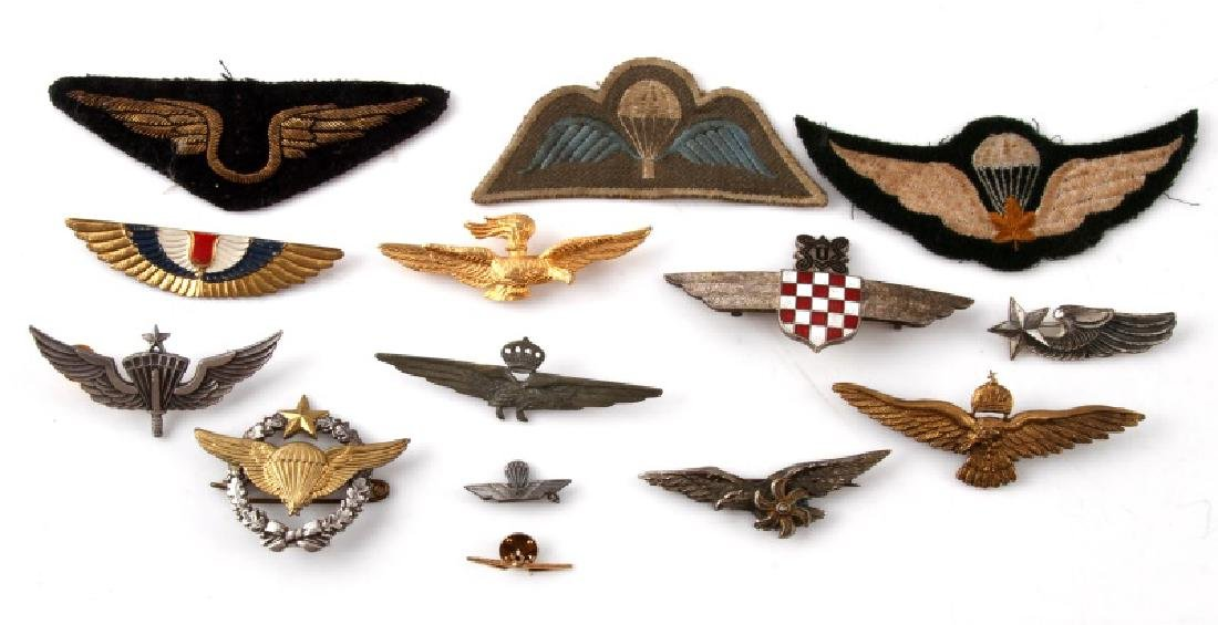 ASSORTED VINTAGE WING LOT PINS & PATCHES