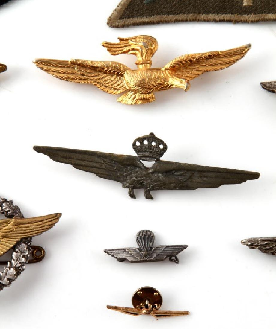 ASSORTED VINTAGE WING LOT PINS & PATCHES - 2