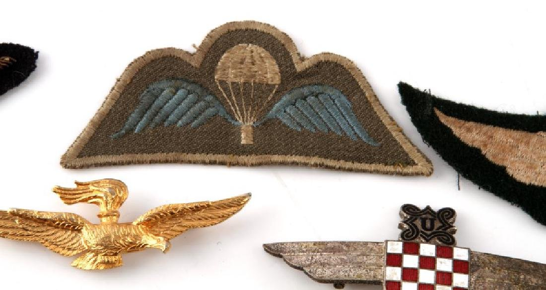 ASSORTED VINTAGE WING LOT PINS & PATCHES - 4