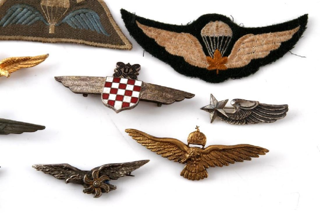 ASSORTED VINTAGE WING LOT PINS & PATCHES - 5