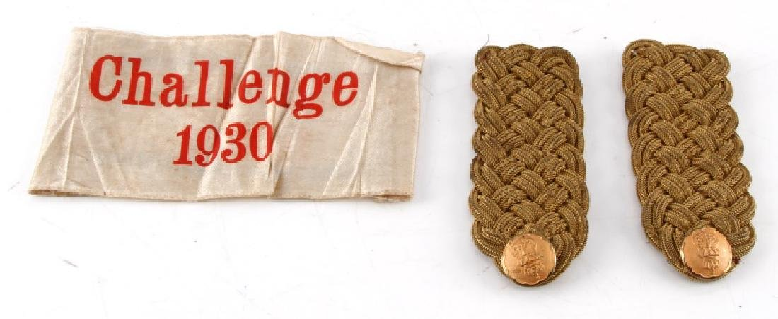 GERMAN 1930 LUFTWAFFE CHALLENGE ARMBAND AND BOARDS