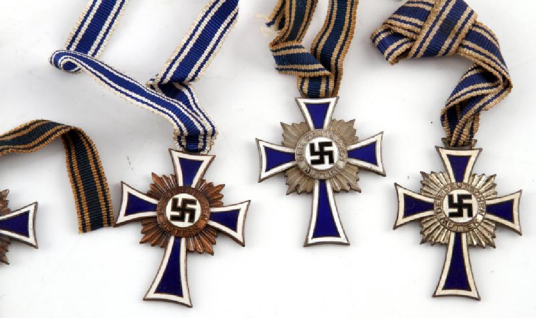 GERMAN WWII 6 MOTHERS CROSSES 3 SILVER 3 BRONZE - 3