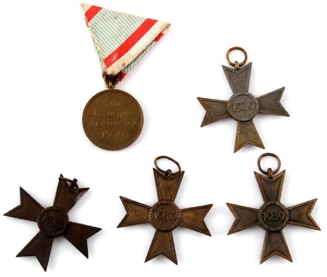 5 GERMAN WWII WAR MERIT MEDALS AND RIBBONS BRONZE - 4