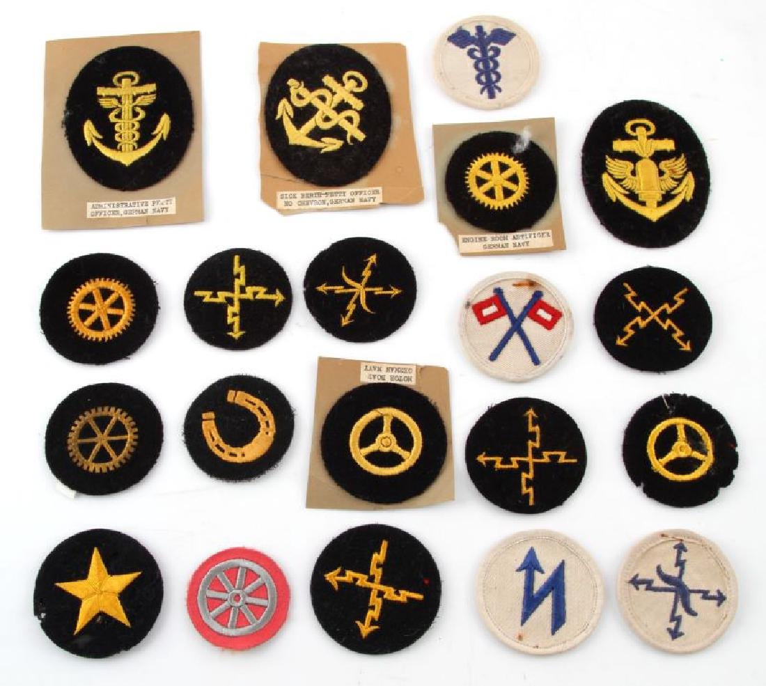 LOT OF 20 GERMAN NSDAP KREIGSMARINE DUTY PATCHES