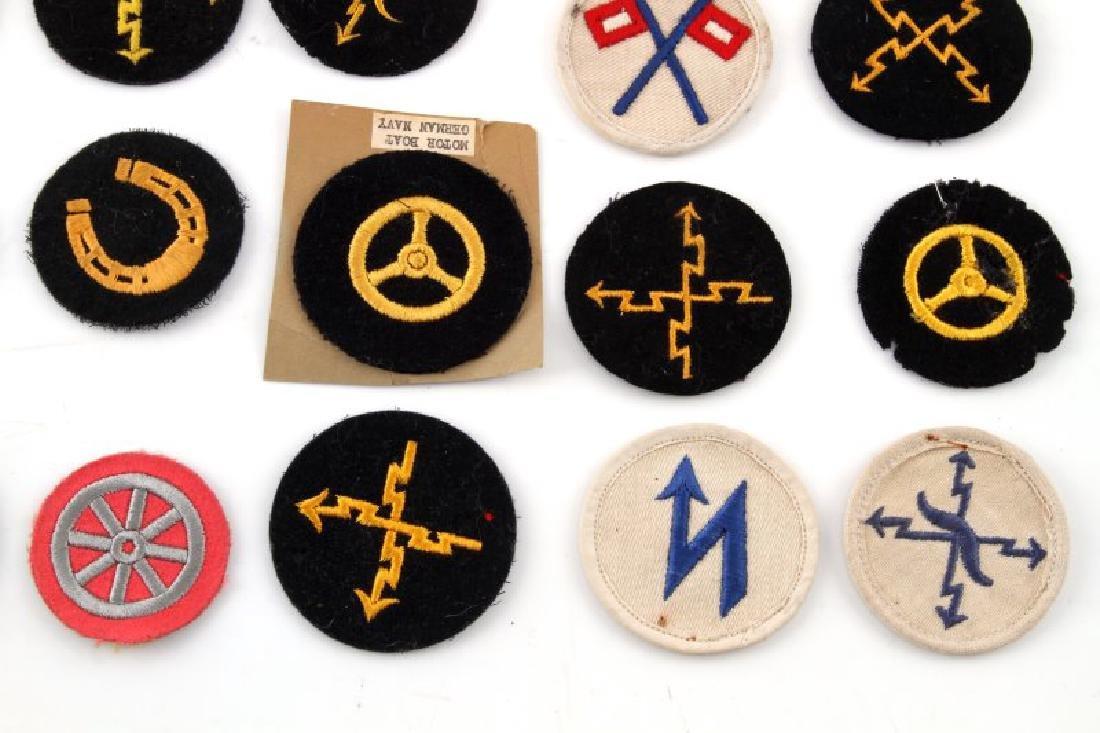 LOT OF 20 GERMAN NSDAP KREIGSMARINE DUTY PATCHES - 5