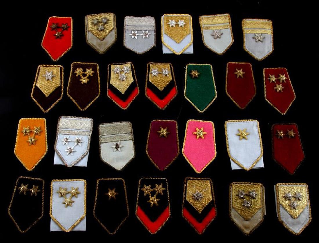 LOT OF 27 MIXED WWII ERA MILITARY SHOULDER BOARDS