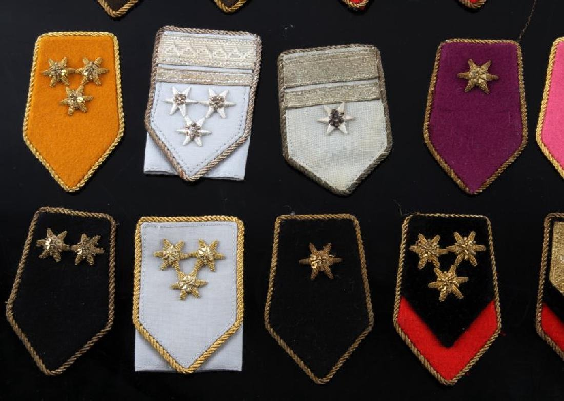 LOT OF 27 MIXED WWII ERA MILITARY SHOULDER BOARDS - 2