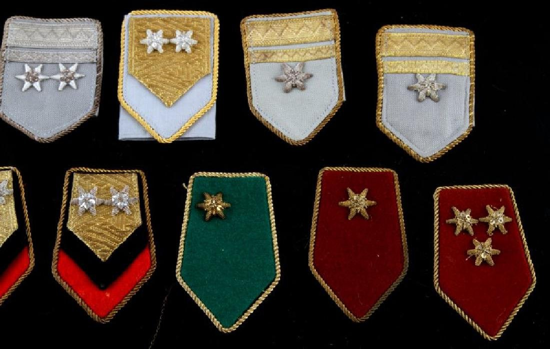 LOT OF 27 MIXED WWII ERA MILITARY SHOULDER BOARDS - 4