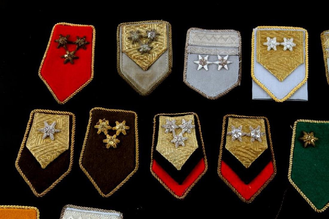LOT OF 27 MIXED WWII ERA MILITARY SHOULDER BOARDS - 5