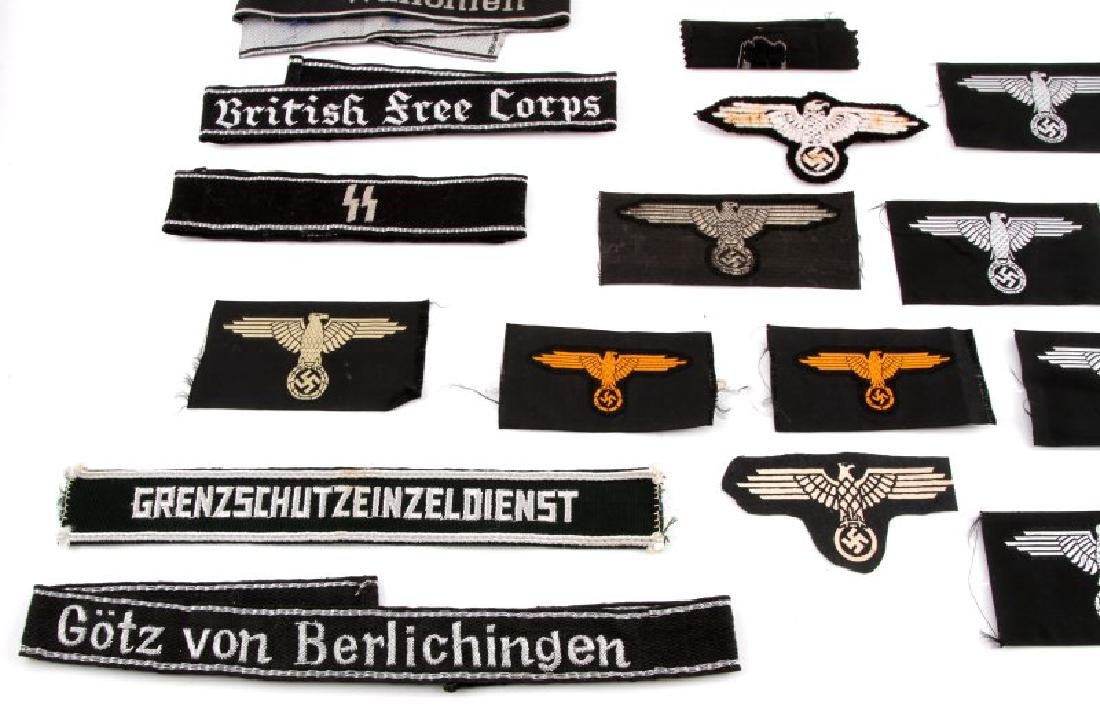 ASSORTED THIRD REICH WAFFEN SS BADGES AND PATCHES - 4