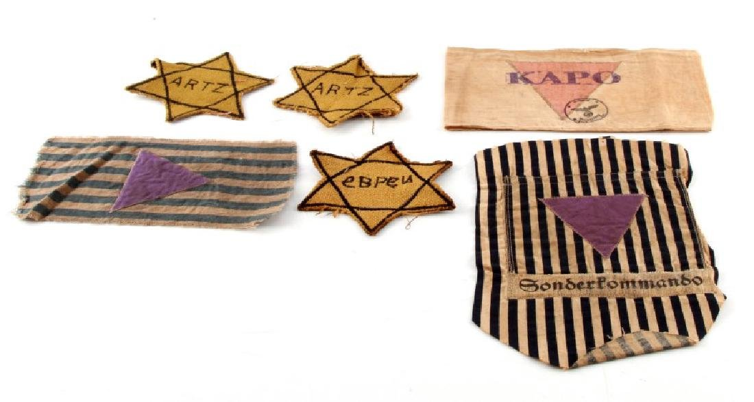 WWII GERMAN CONCENTRATION CAMP BADGE DISPLAY