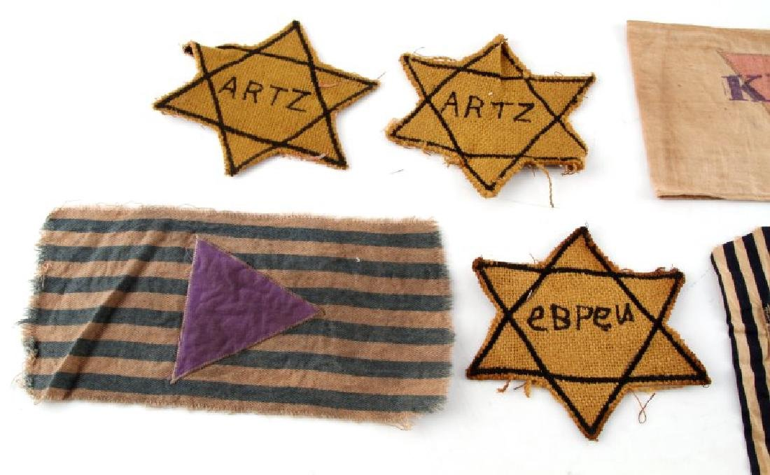 WWII GERMAN CONCENTRATION CAMP BADGE DISPLAY - 4