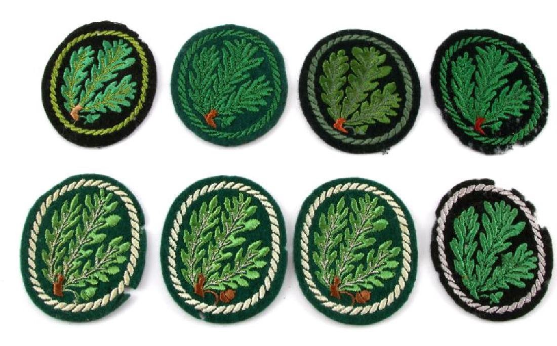 LOT OF 8 WWII ERA GERMAN JAGER DIVISION PATCHES
