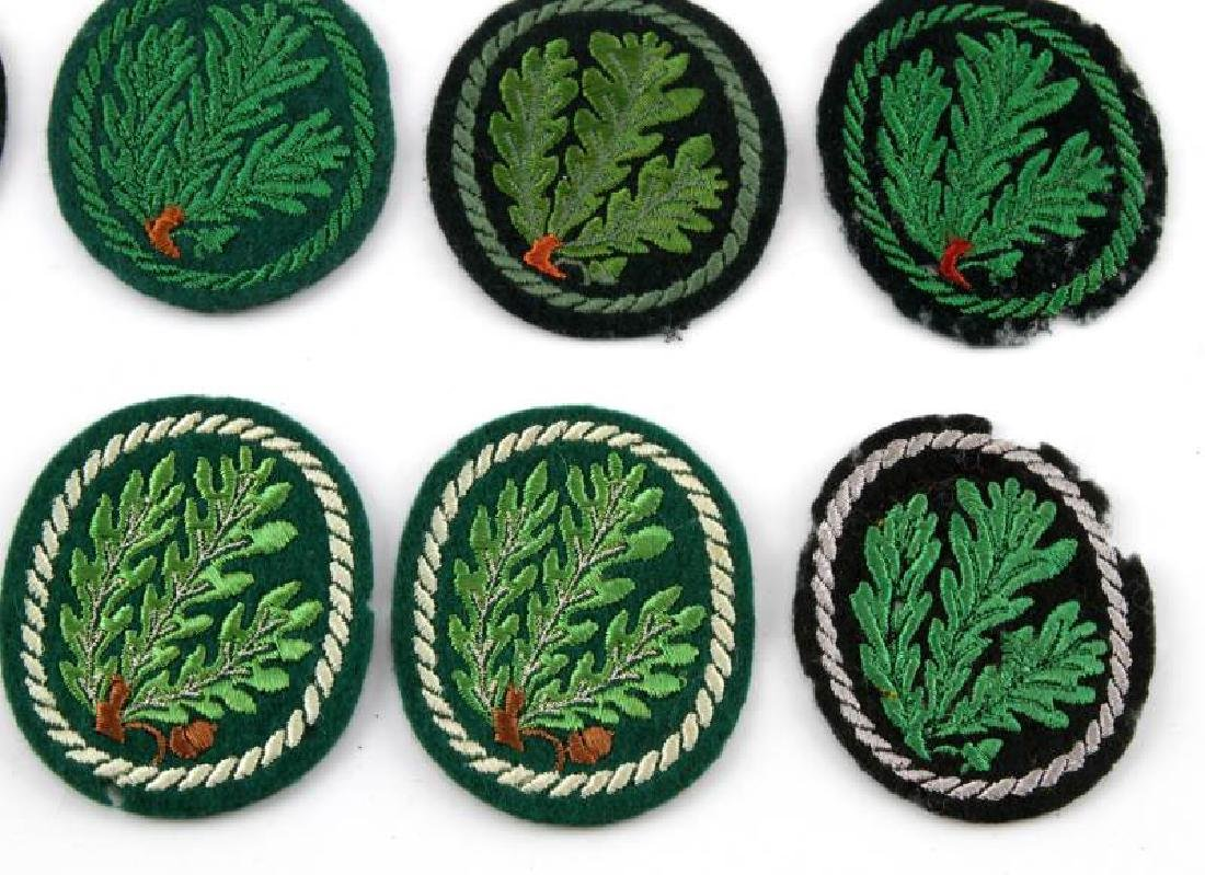 LOT OF 8 WWII ERA GERMAN JAGER DIVISION PATCHES - 3