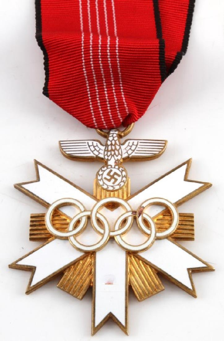 WWII THIRD REICH GERMAN OLYMPIC MEDAL W RIBBON - 2