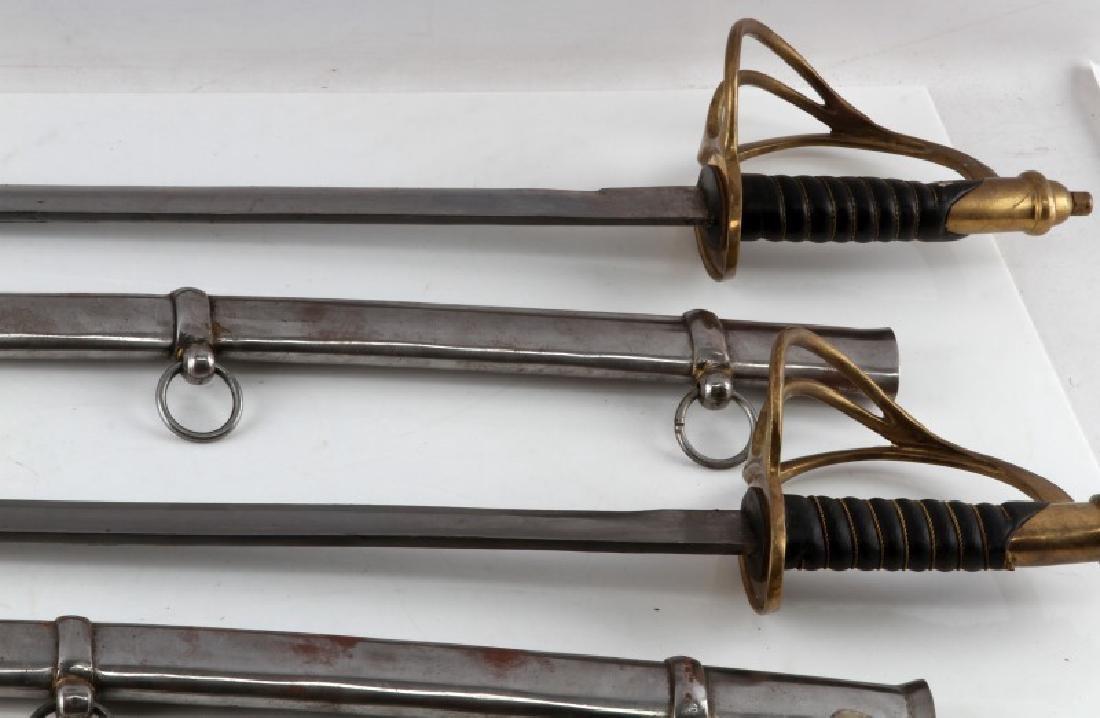 LOT OF 3 1840 CAVALRY DRAGOON SABERS W SHEATHS - 2