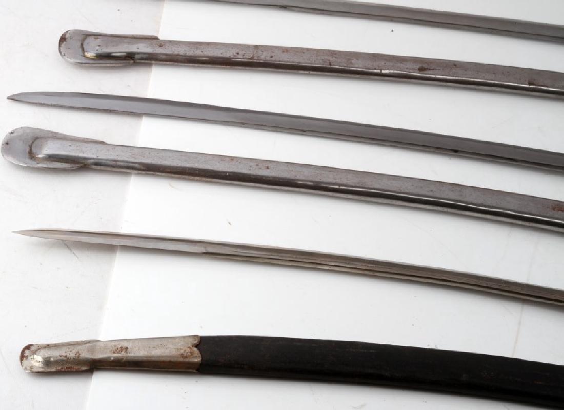 LOT OF 3 1840 CAVALRY DRAGOON SABERS W SHEATHS - 4