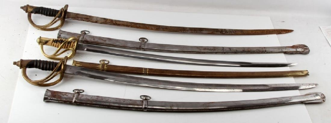 LOT OF 3 1840 CAVALRY DRAGOON SABERS REPRO