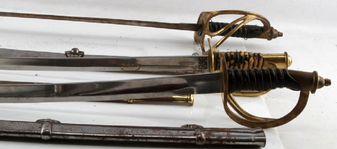 LOT OF 3 1840 CAVALRY DRAGOON SABERS REPRO - 4
