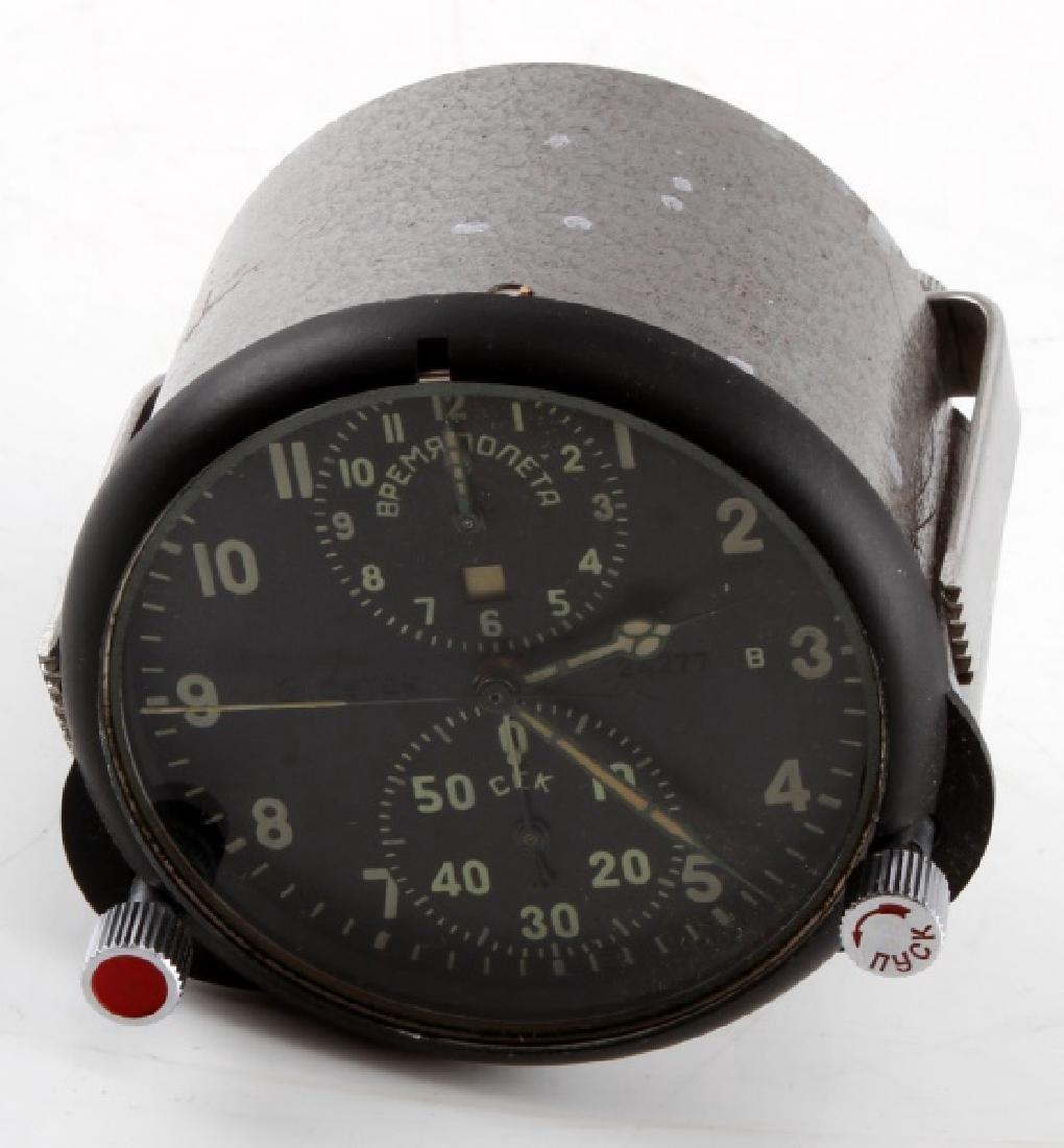 SOVIET RUSSIAN MILITARY AIRCRAFT CHRONOMETER CLOCK