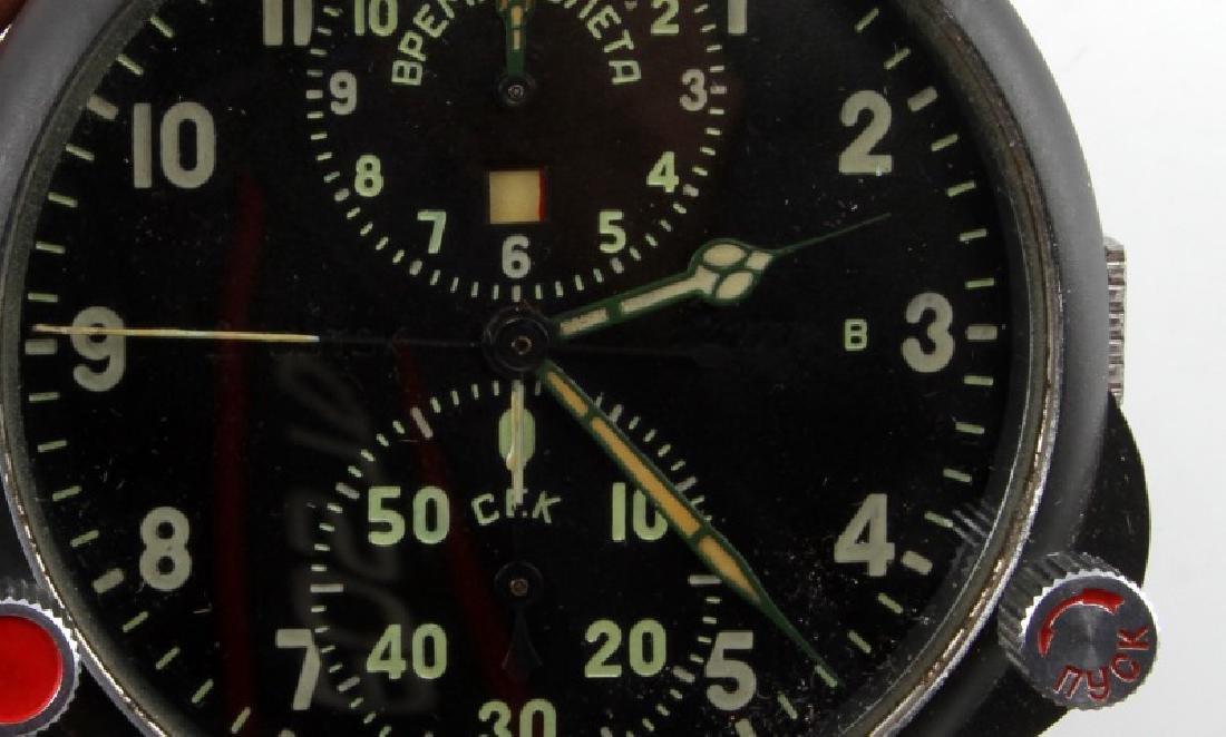 SOVIET RUSSIAN MILITARY AIRCRAFT CHRONOMETER CLOCK - 2