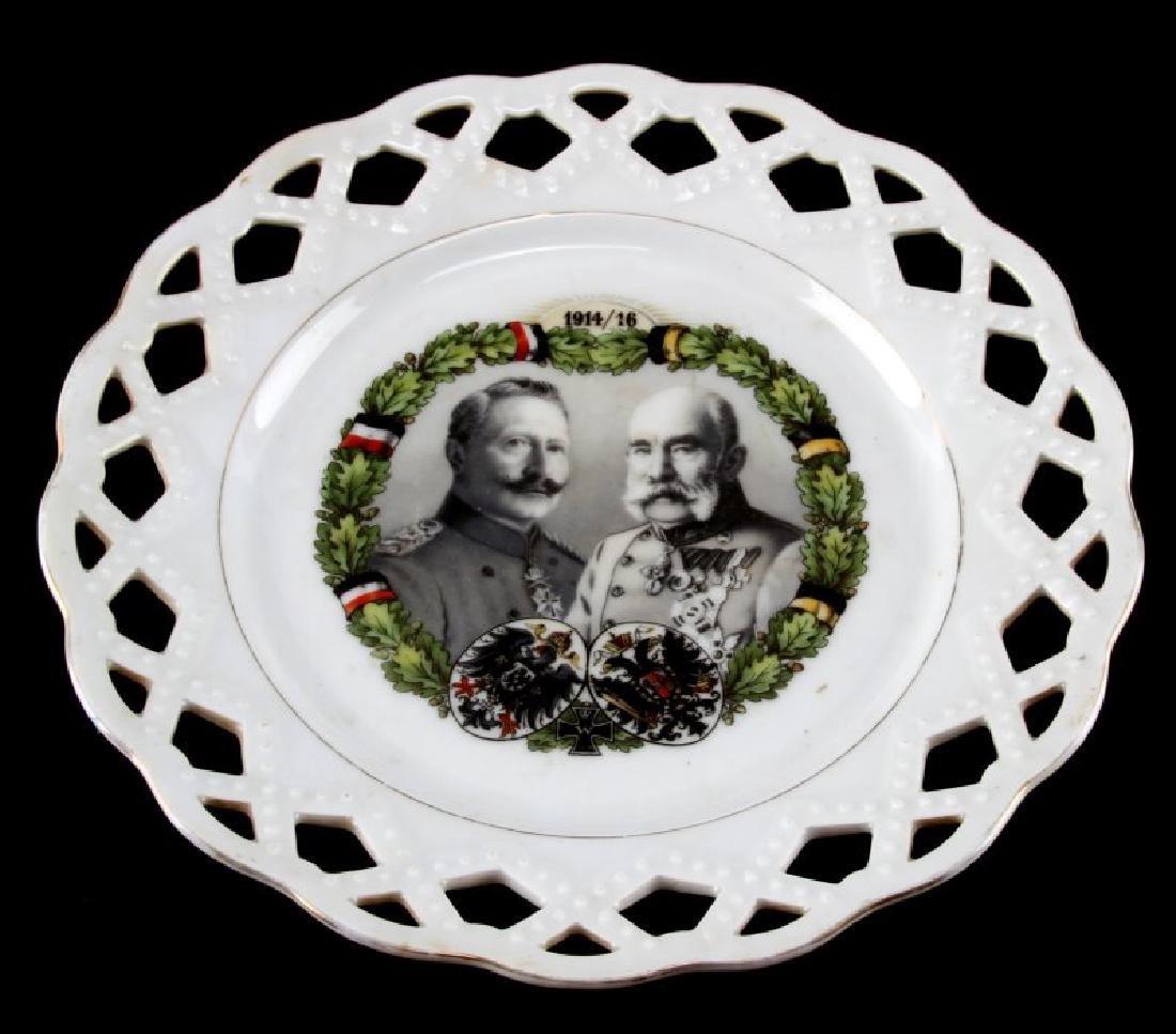 WWI HINDENBURG LATTICE COMMEMORATIVE PLATE