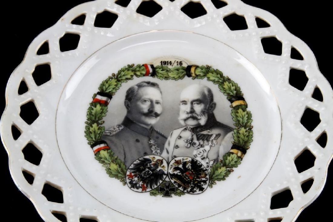 WWI HINDENBURG LATTICE COMMEMORATIVE PLATE - 2
