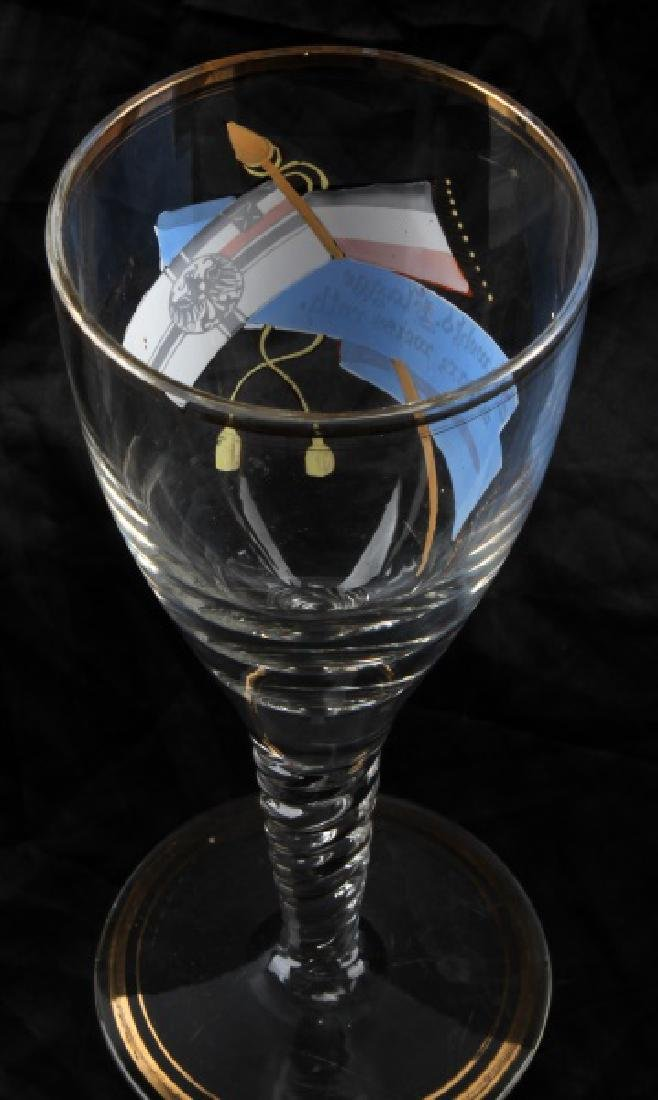 WWII GERMAN HAND PAINTED REICHSKRIEGSFLAGGE GLASS - 3