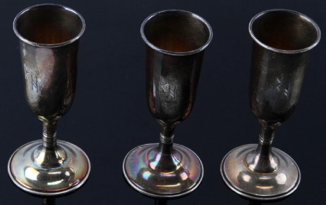 3 RICHARD HEIDRICH WINE CHALICES GERMAN WWII - 2