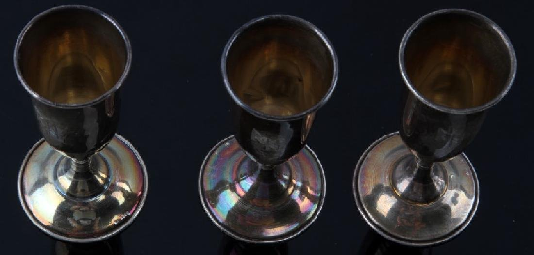 3 RICHARD HEIDRICH WINE CHALICES GERMAN WWII - 3