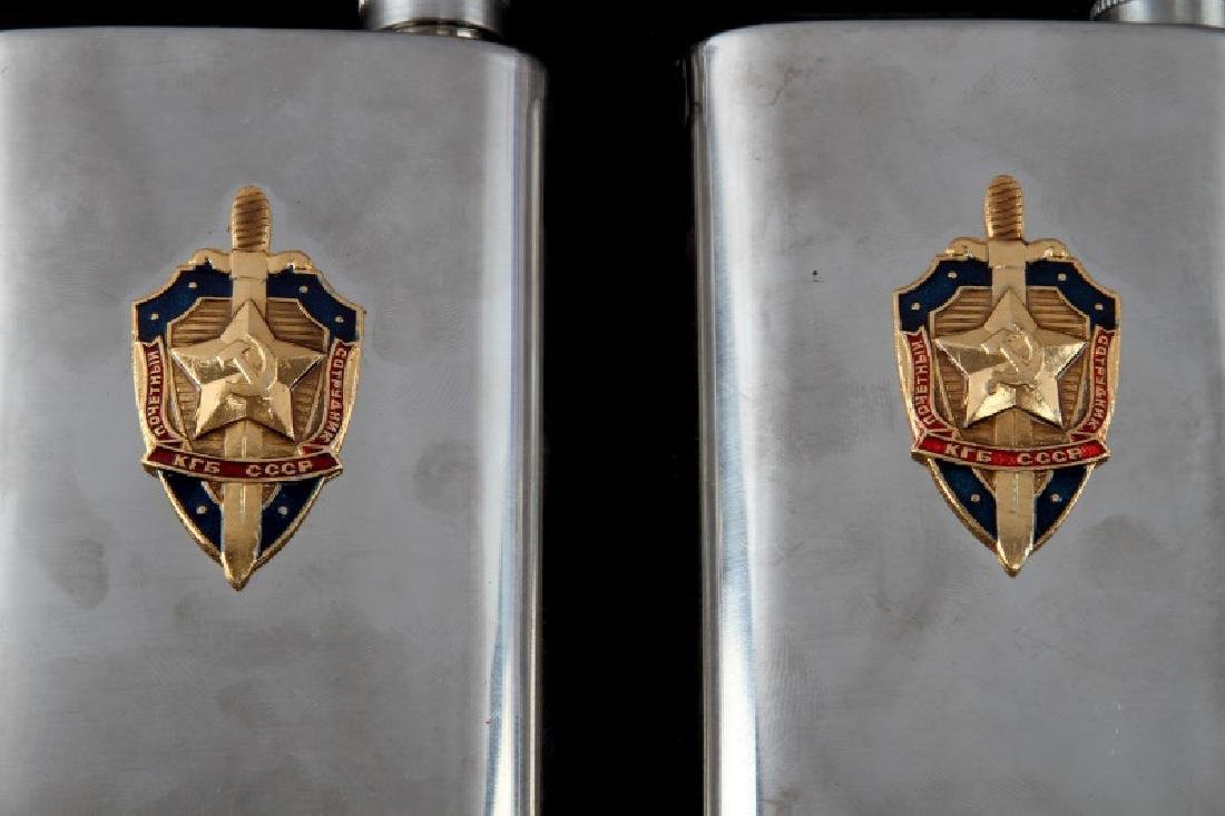 RUSSIAN USSR CCCP KGB DRINKING FLASK LOT OF 4 - 2