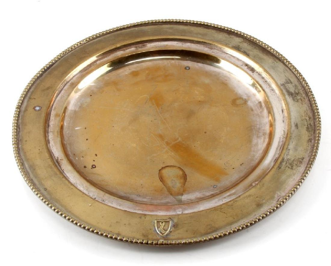 HERMANN GOERING LARGE PERSONAL SILVER PLATE WWII